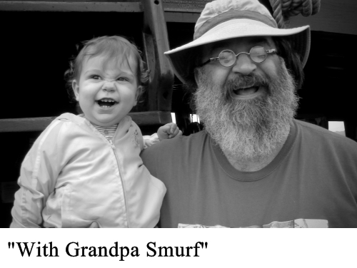 with grandpa smurf small