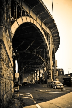 Steel Structures in Sepia - New York City