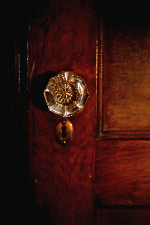 In the Light of the Stained Glass – Old Fashioned Glass Door Knob ...