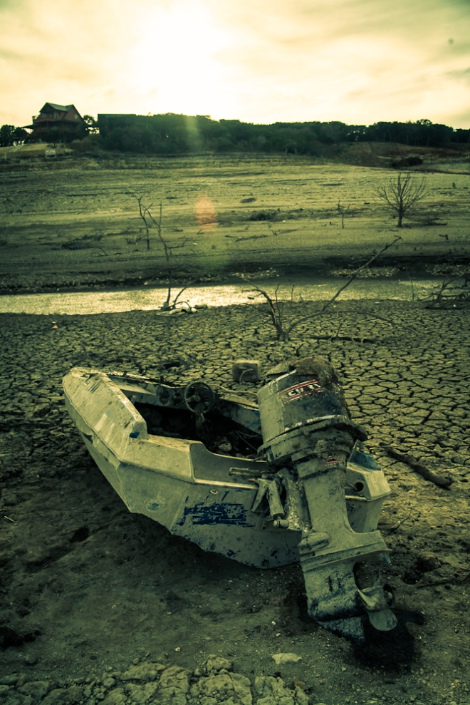 medina lake in drought 2013-14