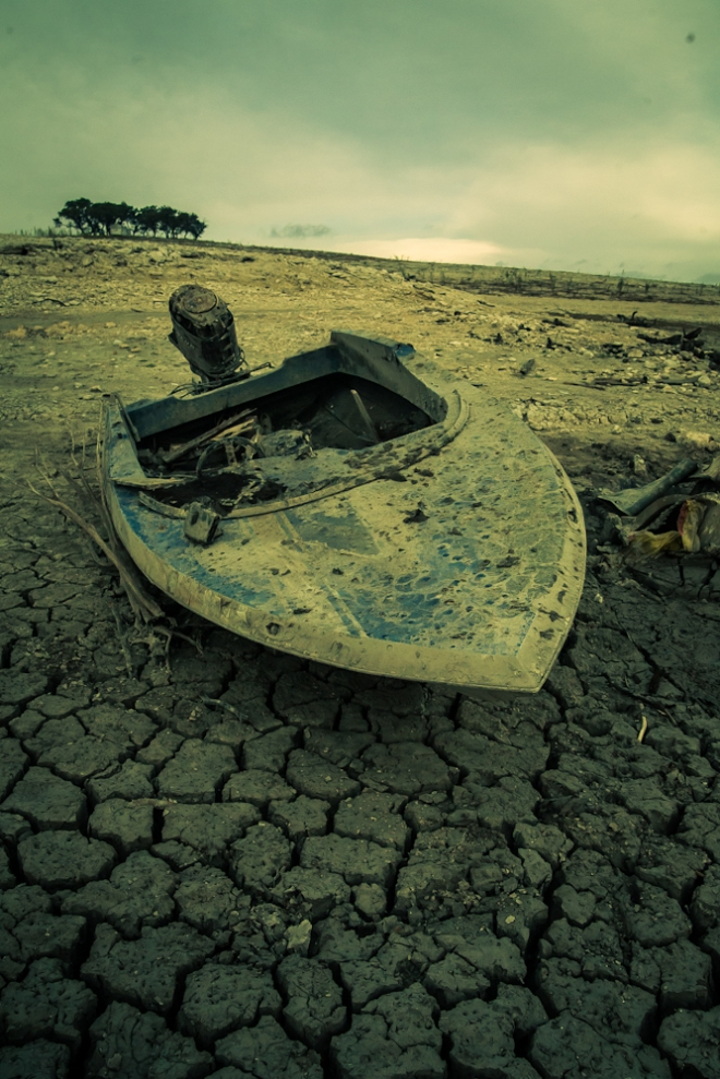 medina lake in drought 2013-5