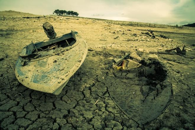 medina lake in drought 2013-6