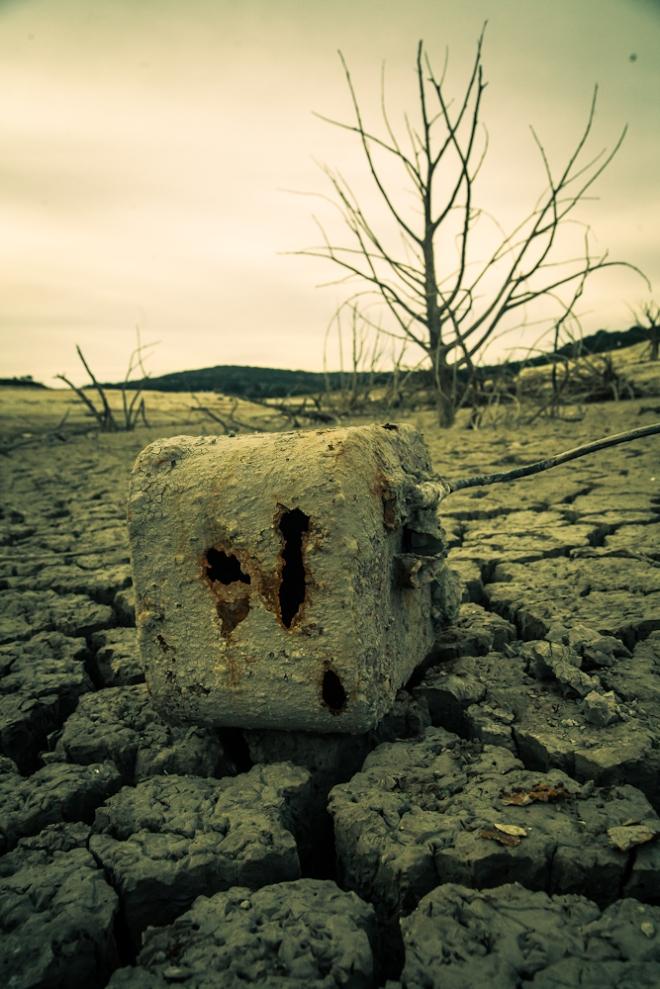medina lake in drought 2013-7