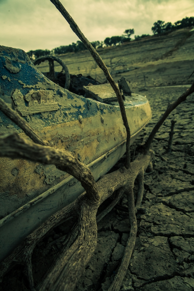 medina lake in drought 2013-8