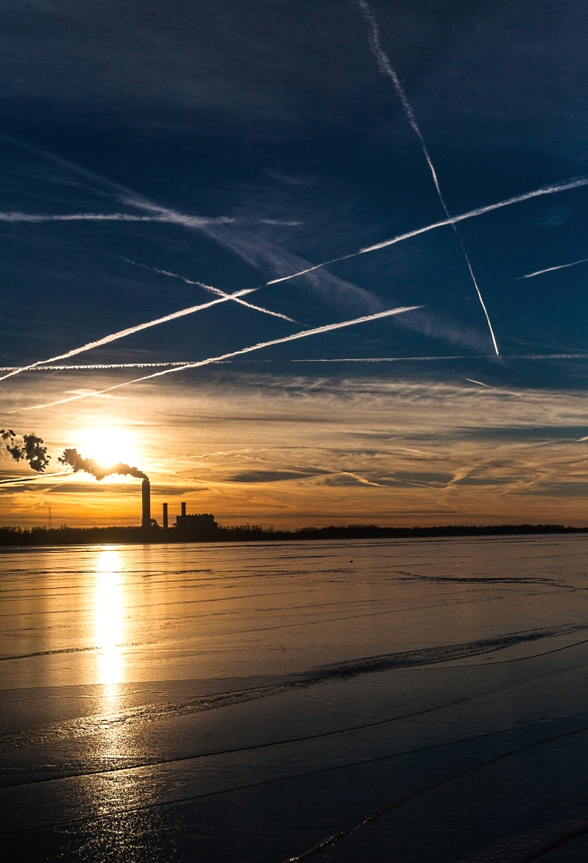 sunset and contrails-1 small