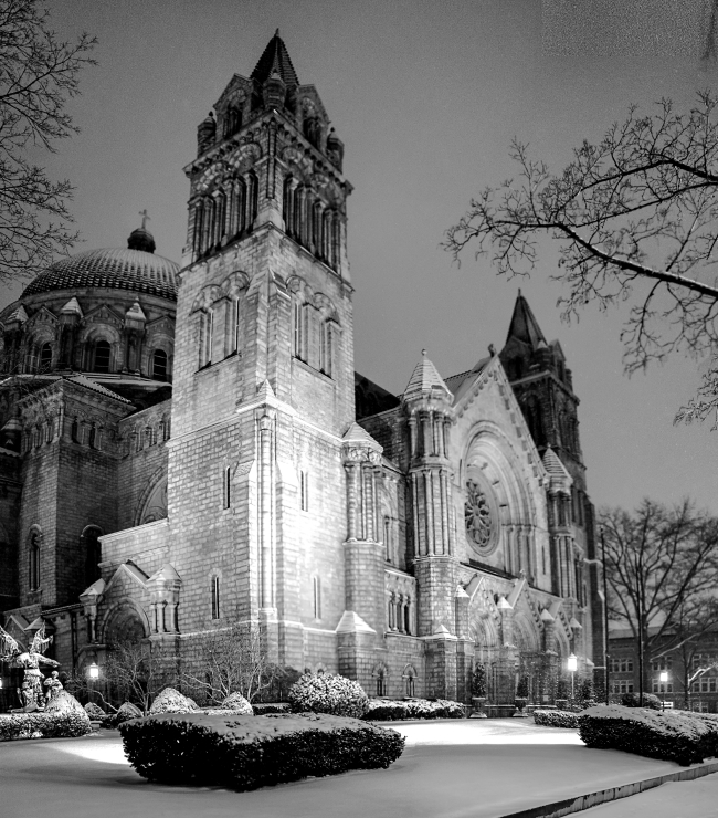 saint louis cathedral basilica in snow-8 small