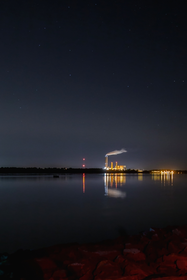 sioux power plant at night west alton great river road-3 small