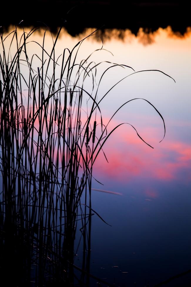 lake at sunset eastern oklahoma-2 small