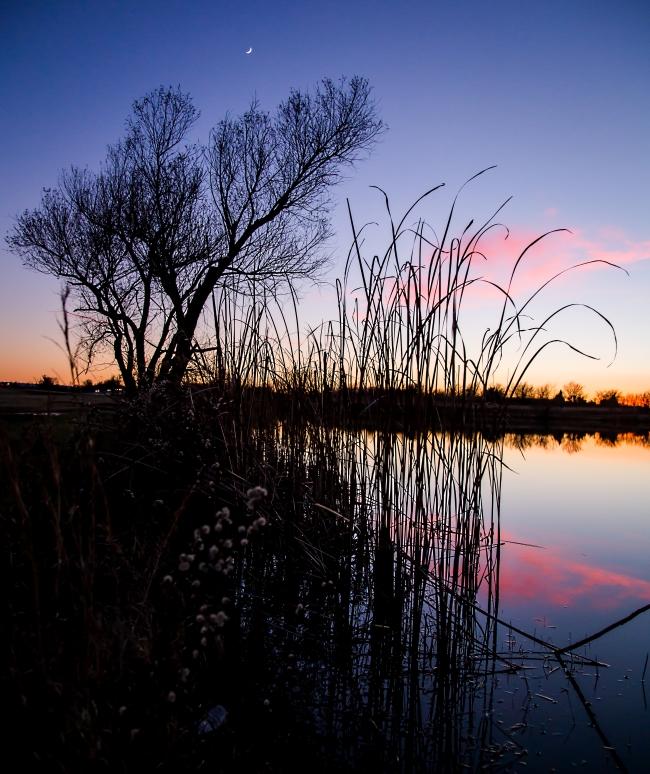 lake at sunset eastern oklahoma-4 small