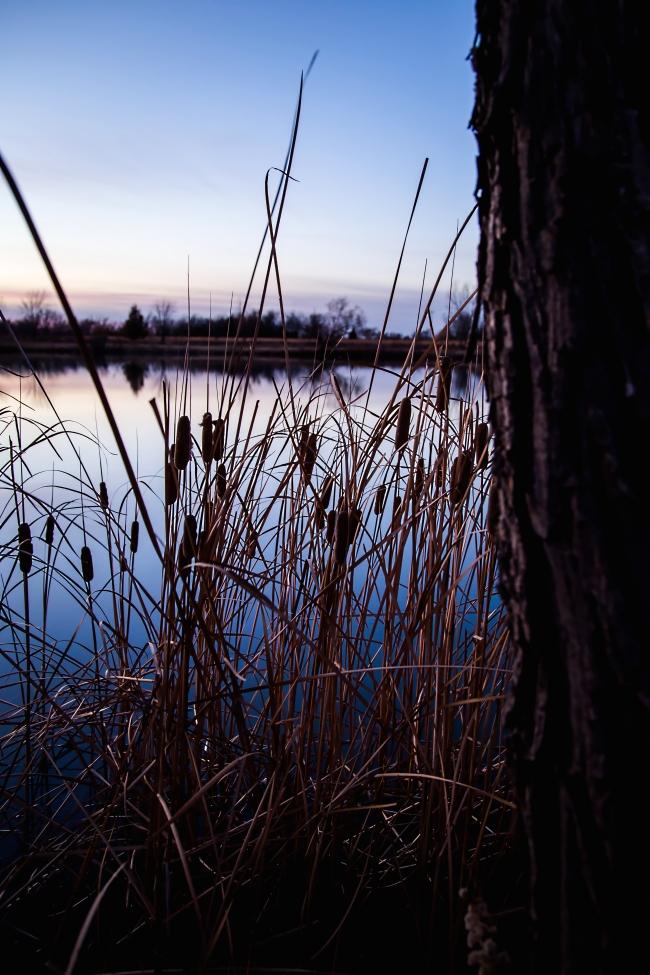 lake at sunset eastern oklahoma-6 small