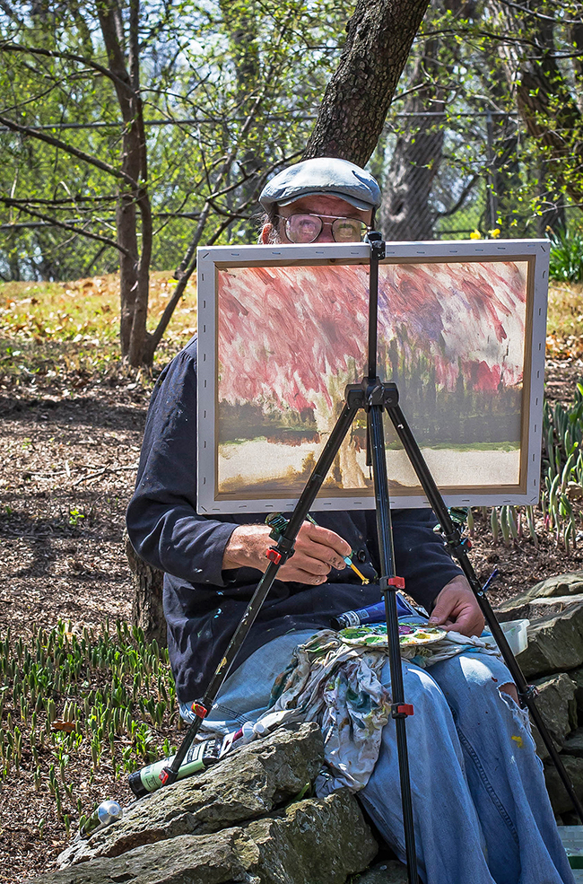 en plein air painter missouri botanical gardens-2 small